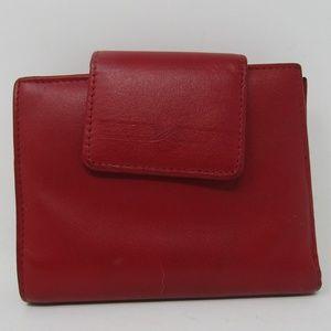 Buxton Red Wallet Women Card Holder